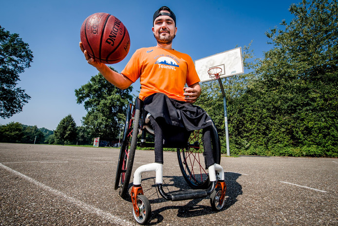 Mustafa Korkmaz, aanvoerder Nederlands team rolstoelbasketbal