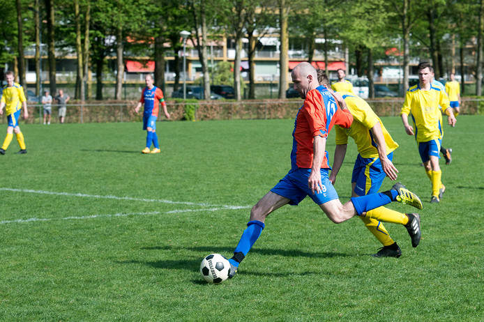 De voetballers van Oranje Blauw op archiefbeeld.