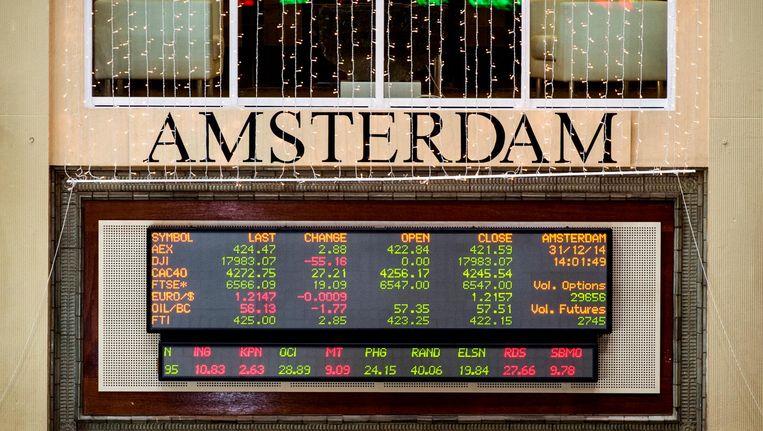 De Europese aandelenbeurzen lieten een wisselend beeld zien. Beeld anp