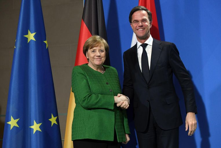 Rutte was afgelopen maandag nog in Berlijn. Beeld Maurizio Gambarini / DPA