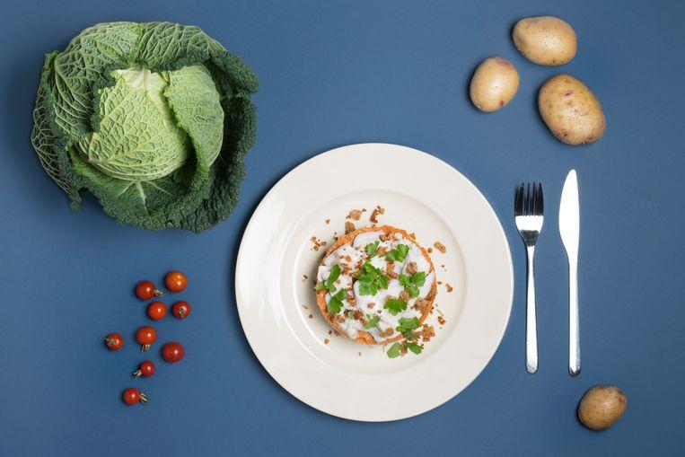 Koolvistorentjes met tomatenpesto en savooiekoolpuree Beeld Annabel Miedema
