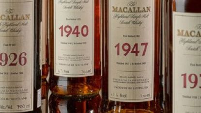 Fles whisky geveild voor 1,7 miljoen euro