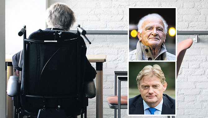 Inzetjes: Ben Oude Nijhuis (boven) en staatssecretairs Martin van Rijn (onder)