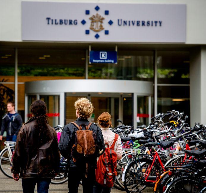 De ingang van de Universiteit Tilburg.