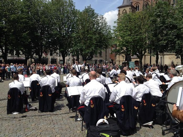 Marinierskapel op de Parade