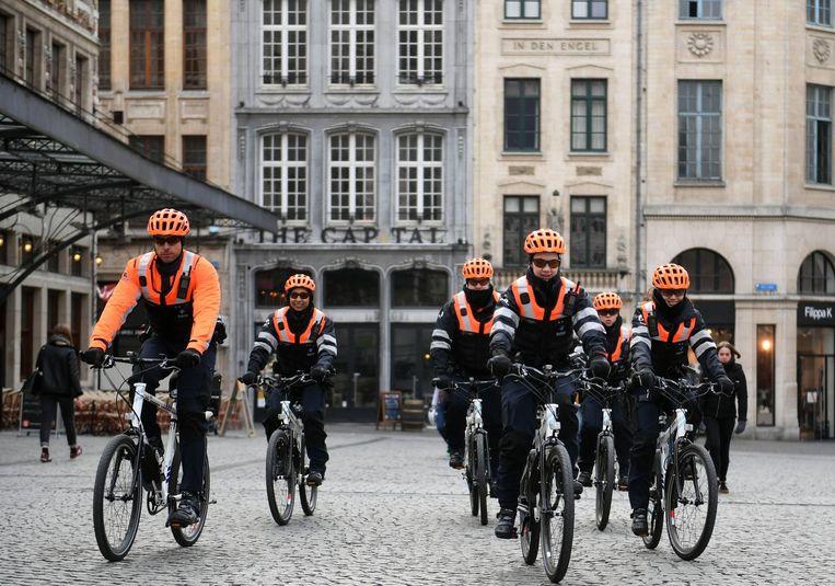 Fietsteam Politie Leuven.