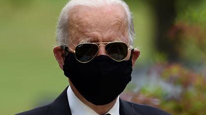 Joe Biden voor het eerst sinds 15 maart weer in het openbaar verschenen