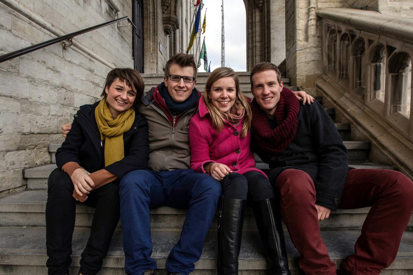 Eline Dhaen, Kristof Van Gansen, Florence Verschueren en Koen Colpaert.
