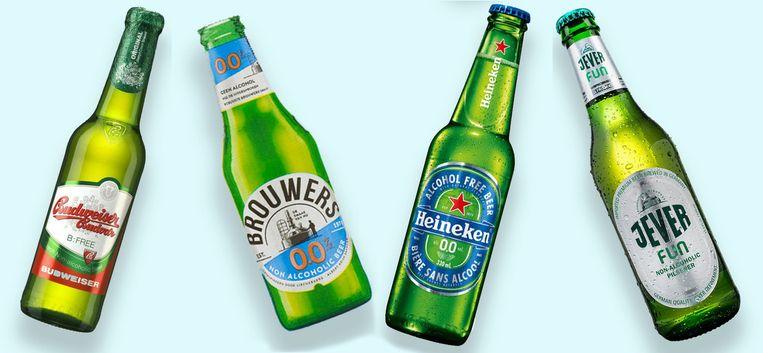 Alcoholvrije biertjes Beeld null