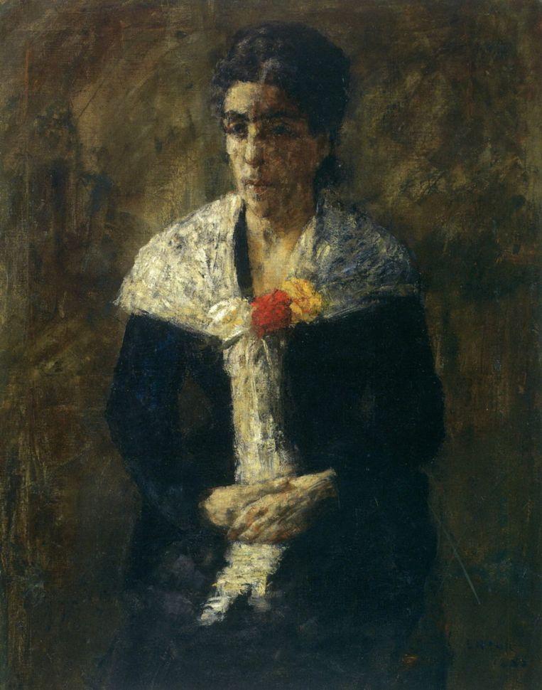 Portrait of Artist's mother, James Ensor Beeld MuZEE