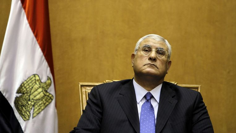 De Egyptische interimpresident Adly Mansour Beeld ap