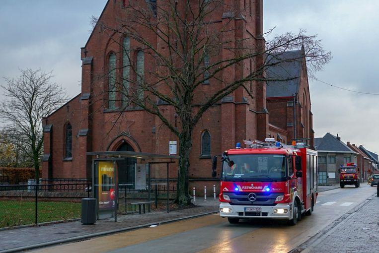 De brandweer werd zondagmiddag opgeroepen voor een brandalarm in de kerk van Puivelde