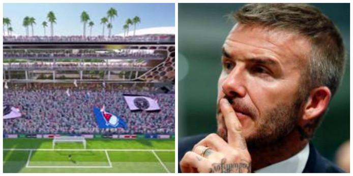 Impressie van het nieuwe stadion en David Beckham.