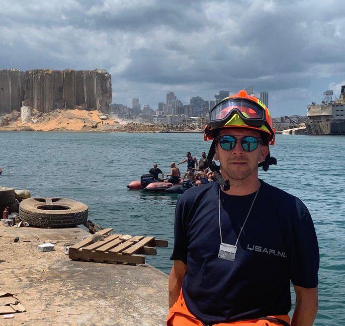 Reddingswerker Robert Noteboom werd met het hele Usar-team direct na de ontploffing naar Beiroet gestuurd.