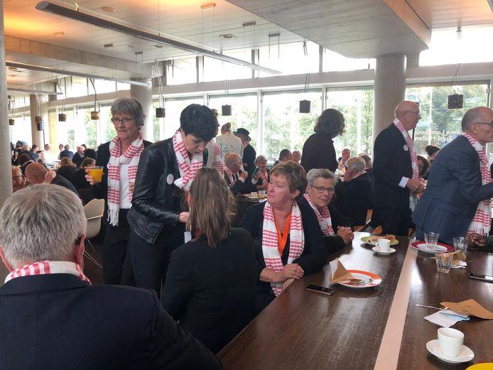 Lunch op het Zuid-Hollandse provinciehuis.
