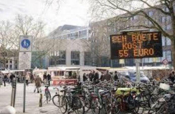 De fietser is gewaarschuwd.