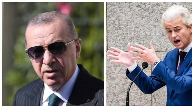 Erdogan dient klacht in tegen Geert Wilders na spotprent