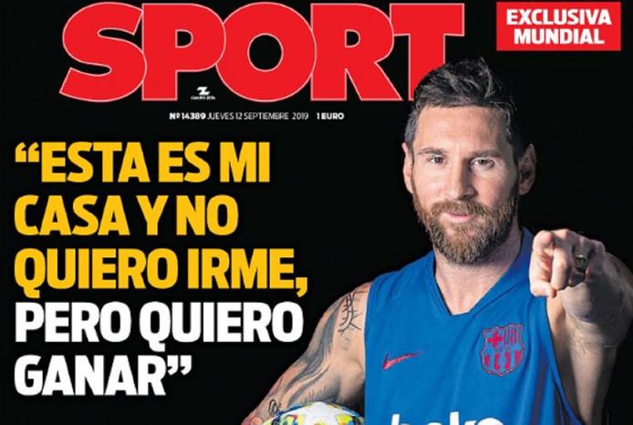 Les confessions de Lionel Messi