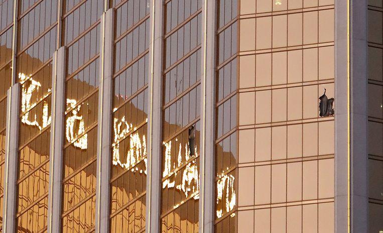 De dader schoot vanuit het raam van een hotelkamer.
