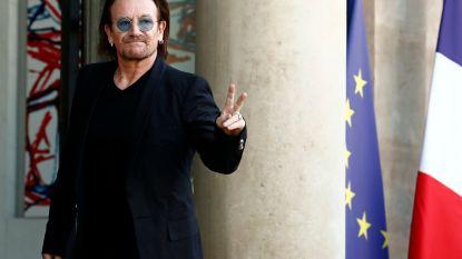Bono en Macron zitten samen over ontwikkelingshulp aan Afrika