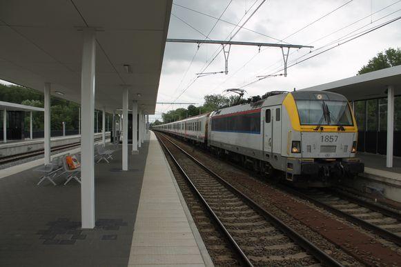 Het station van Liedekerke, waar de feiten gebeurden