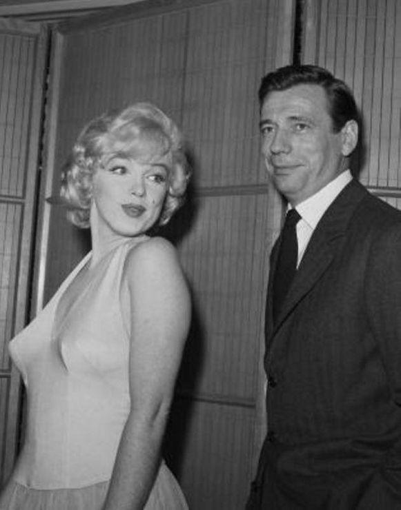 Marilyn Monroe en Yves Montand in 1960.