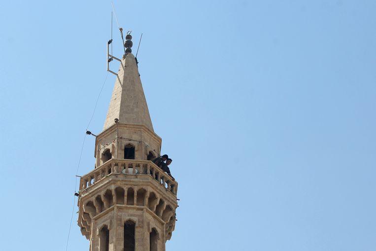 Een minaret in Tar Afal, Irak. Beeld AFP