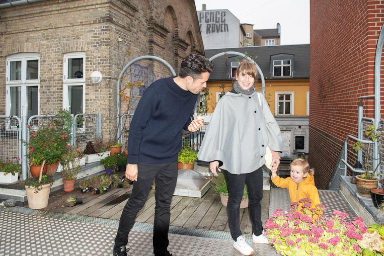 Gustav, Sara en Carla in Kopenhagen. Beeld Els Zweerink