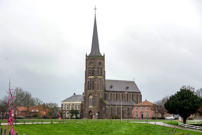 De katholieke kerk van Batenburg.