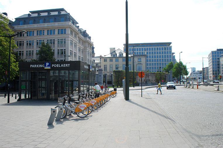 Het Poelaertplein in Brussel
