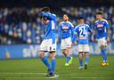 De Napoli-spelers druipen af na een nieuwe tegengoal.