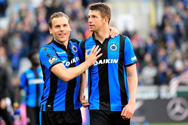 Ruud Vormer (l) en Brandon Mechele.