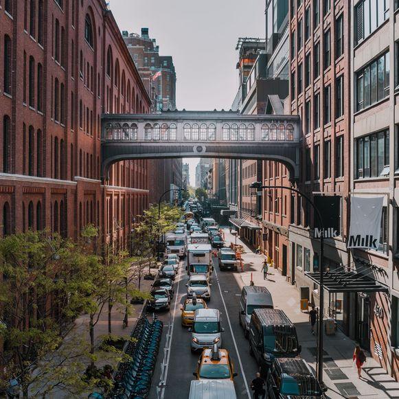 Chelsea, de kunstzinnige buurt tussen Downtown en Midtown, New York.