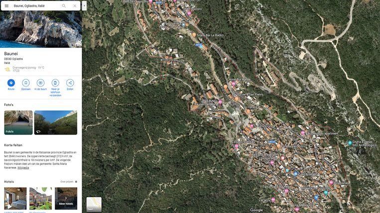 Baunei op Google Maps