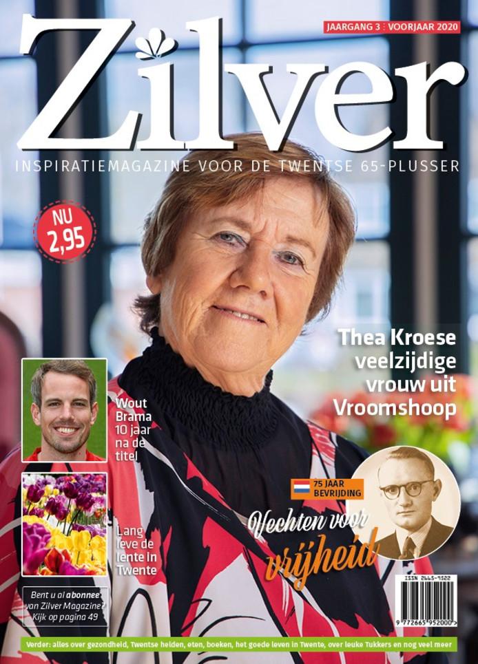 De cover van het voorjaarsnummer van Zilver Magazine.