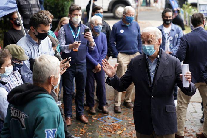 Biden houdt een kleinschalig event elders in Chester, Pennsylvania.