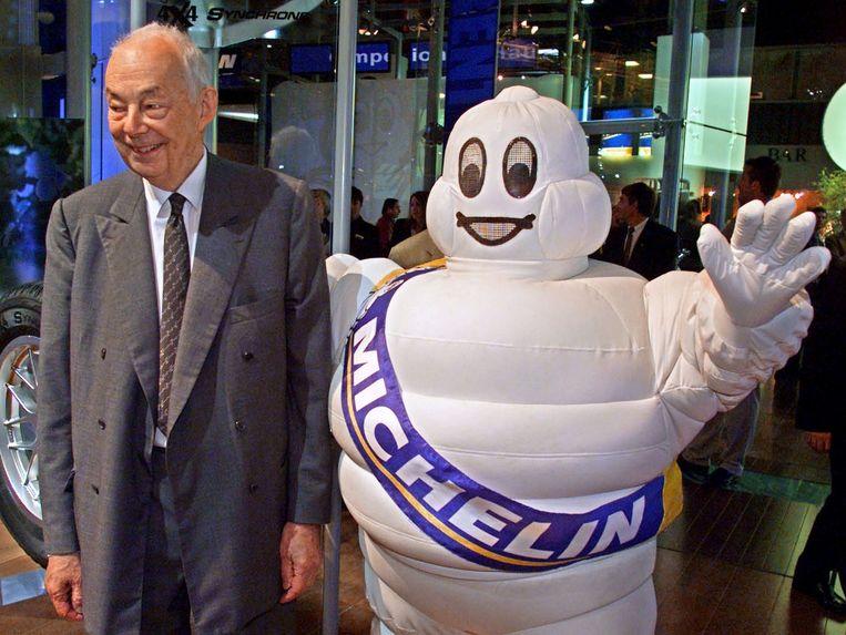 Francois Michelin: 'de magere man naast het Michelinmannetje' Beeld null
