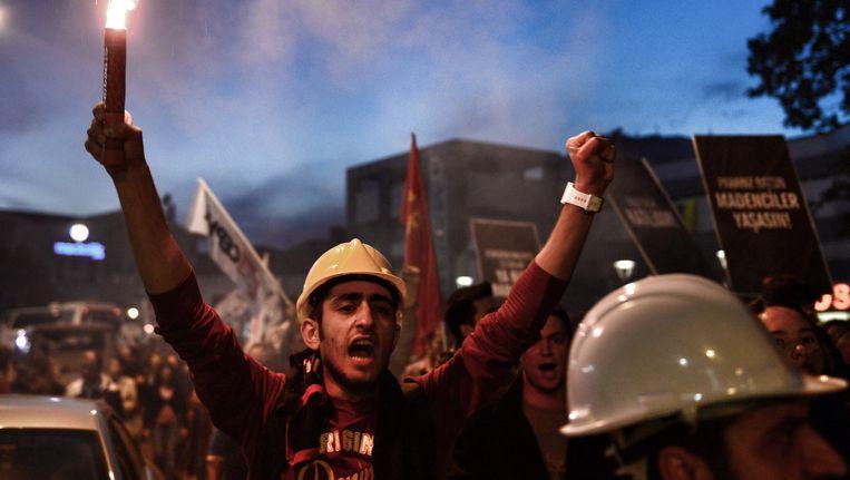 Duizenden protesteerden in de dagen na de mijnramp.