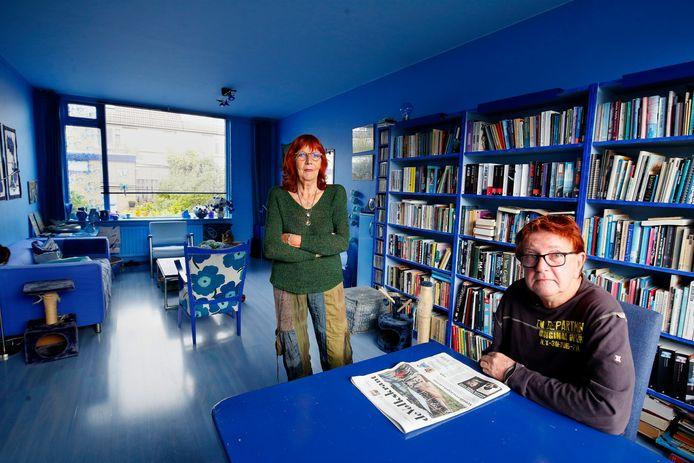 De blauwe woonkamer van Hester en Sibo