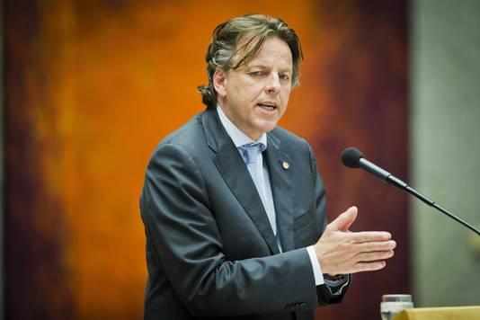 Minister van buitenlandse zaken Bert Koenders tijdens een Tweede Kamerdebat.