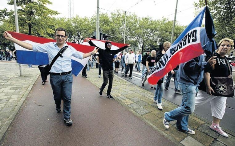 De 'mars voor de vrijheid', op 10 augustus in Den Haag. Beeld anp