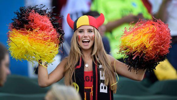 Axelle Despiegelaere, een opgemerkte verschijning tijdens het WK in Rusland.