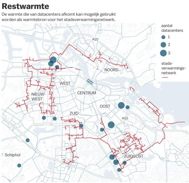 Restwarmte uit datacenters in Amsterdam Beeld Gemeente Amsterdam/Dutch Data Center